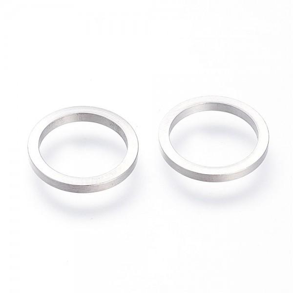 3 Edelstahl Verbinder Ringe 14 x 1,5 mm