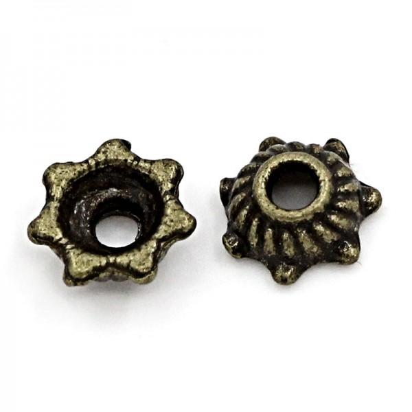 50 Perlkappen bronzefarben