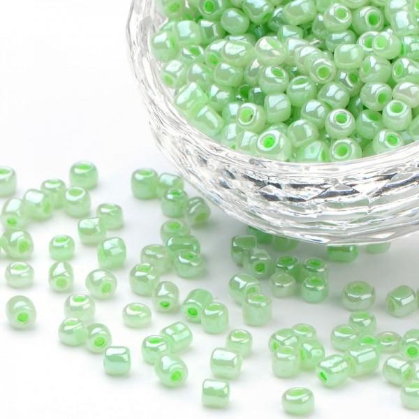 50 Gramm Rocailles rund hellgrün