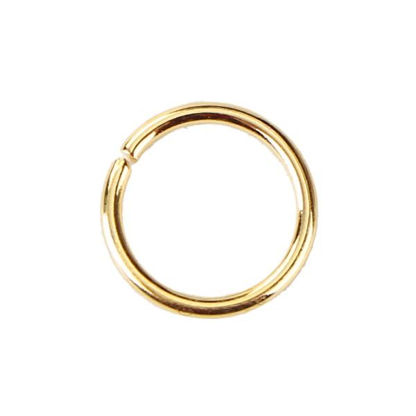 100 offene Biegeringe rund vergoldet 9 mm