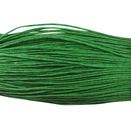 5 Meter gewachste Baumwollschnur grün 1 mm
