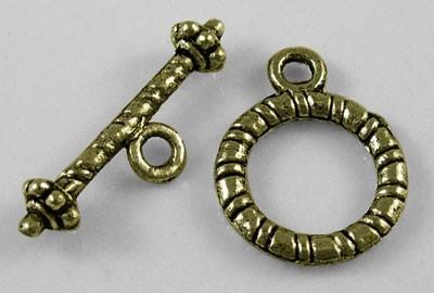 2 Sets Knebelverschlüsse antik bronzefarben