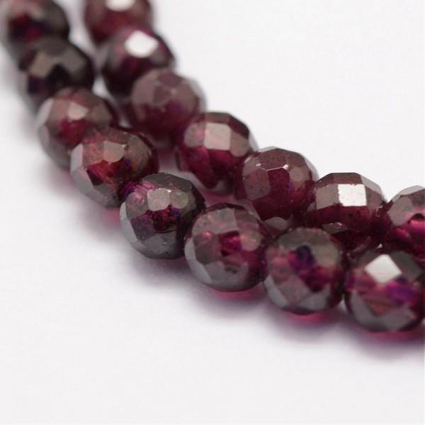 10 Natürliche Granat Perlen facettiert