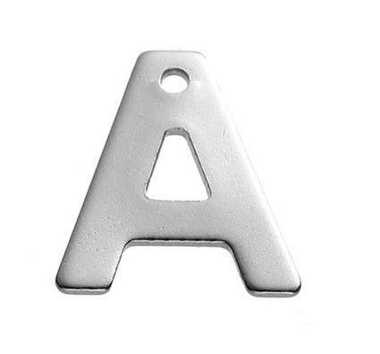 Buchstaben Anhänger Edelstahl Charm Buchstabe A