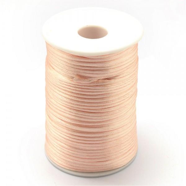 2,5 Meter Polyesterschnur für Flechtarmband apricotfarben