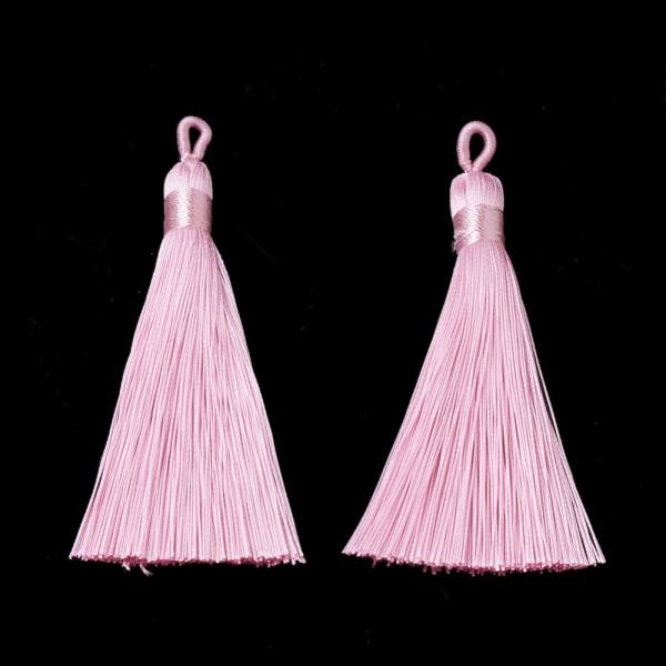 Hochwertige Polyester Quaste rosa 80-90 x 8,5-9 mm