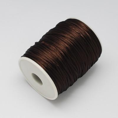 2,5 Meter Polyesterschnur braun für Flechtarmbänder