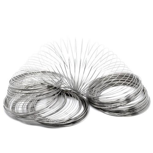10 Windungen Spiraldraht Memory Wire silberfarben
