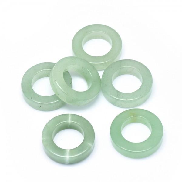 Natürlicher Jade Perlenring 25 x 6 mm