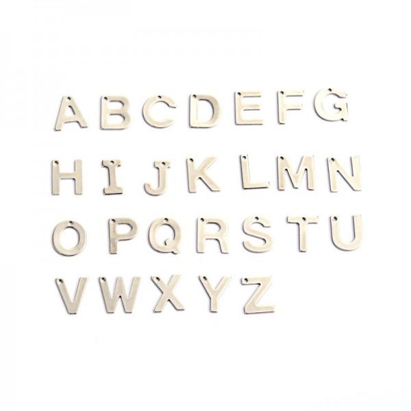Buchstaben Anhänger Edelstahl Charm Buchstabe Z