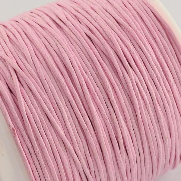 5 Meter gewachste Baumwollschnur rosa Stärke 1 mm