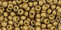 TOHO Permafinish 5 Gramm galvanisierte 3 mm Glasperlen matt golden fleece 8/0