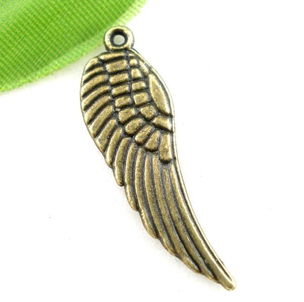 3 Charm Anhänger Flügel bronzefarben
