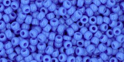 TOHO 11/0 opaque cornflower Glasperlen 5 Gramm 2 mm seedbeads
