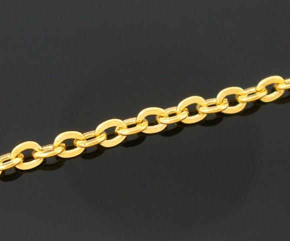 1 Meter offene Gliederkette goldfarben