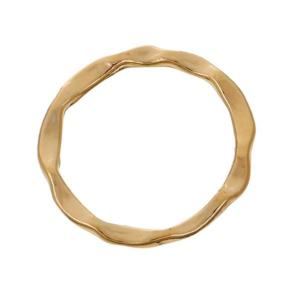 Anhänger ringförmig goldfarben