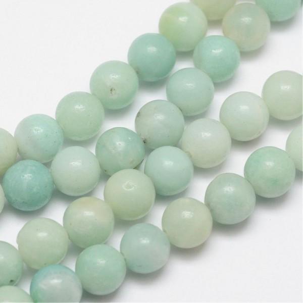 Natürlicher Amazonit Perlenstrang rund glänzend 3,5 mm (ca. 90 Perlen / ca. 38,5 cm Länge)