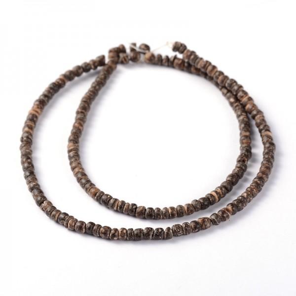 Natürliche Kokosnuss Perlenstränge 3,4 x 2-3,5 mm (ca. 163 Perlen / ca. 39 cm Länge)