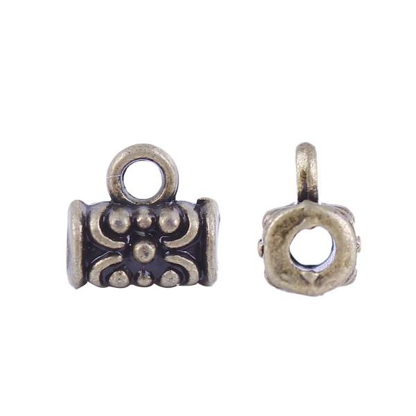 20 Perlen mit Öse bronzefarben