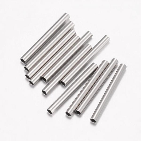 10 Edelstahlrohr Perlen Tubes 15 mm