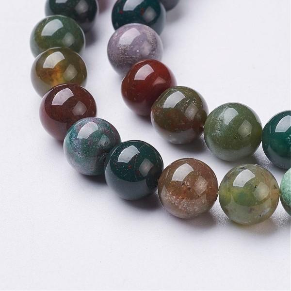 1 Strang Indische Achat Perlen 8 mm (ca. 45 Perlen / 39 cm lang)