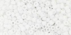 TOHO 11/0 opak gefrostet weiß Glasperlen 5 Gramm 2 mm seedbeads