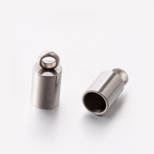 4 Edelstahl Endkappen für 3 mm Bänder