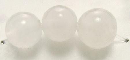 Natürlicher weißer Jadeperlenstrang 4 mm (ca. 85 Perlen/37 cm Länge)
