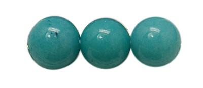 1 Strang natürliche Mashan Jade Perlen seegrün gefärbt 6 mm (ca. 68 Perlen / Länge ca. 39,5 cm)