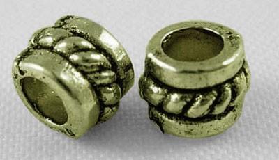 20 Metallperlen Spacer Zwischenperlen antik bronzefarben 5 x 4 mm