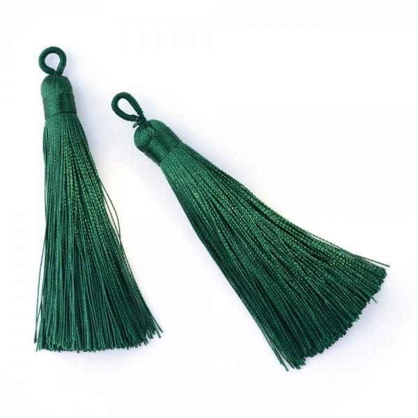 Hochwertige Polyester Quaste grün 80-90 x 8,5-9 mm