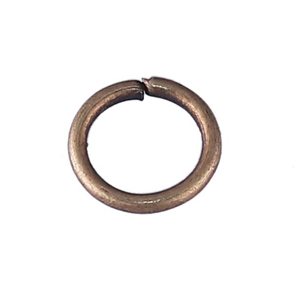100 Biegeringe bronzefarben 7 mm