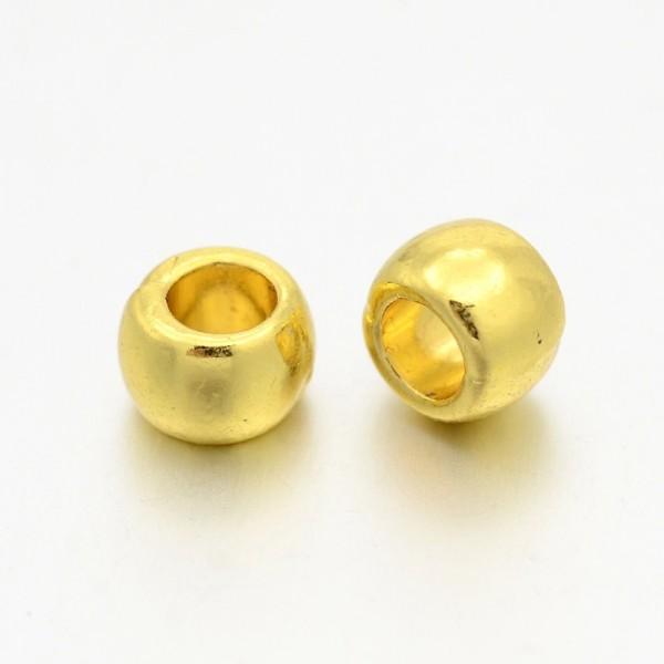 10 Großlochperlen Zwischenperle goldfarben