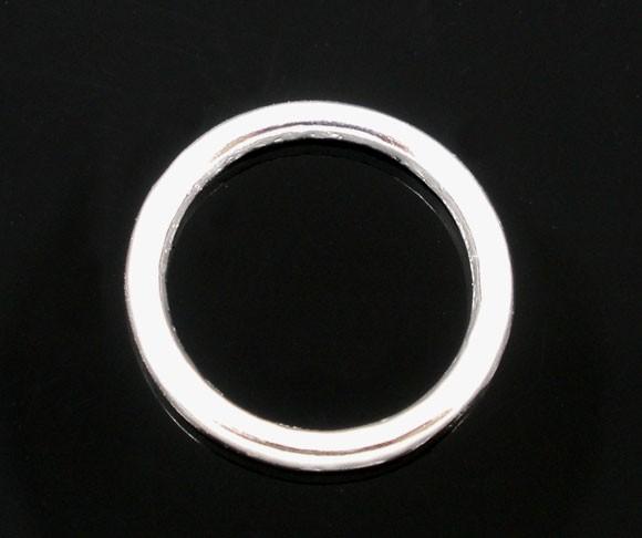 10 Binderinge Metallringe versilbert geschlossen