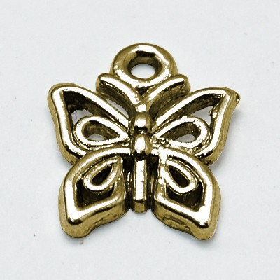 5 Charm Anhänger Schmetterling