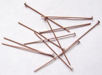 10 Gramm (ca. 60 Stück) Nietstifte aus Eisen rotkupferfarben
