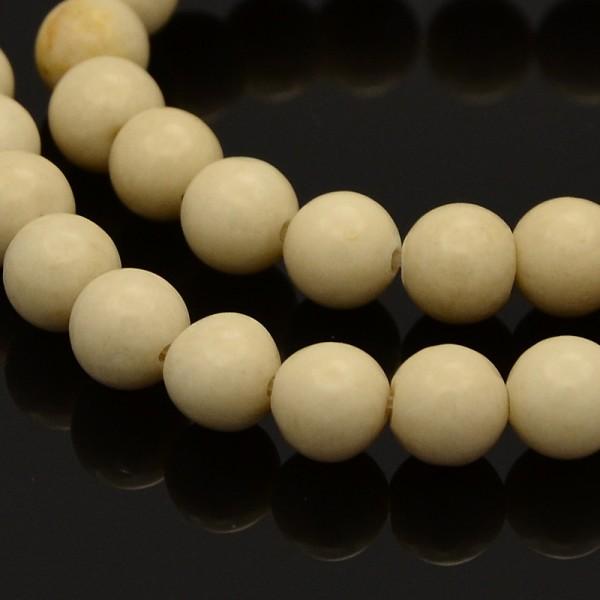 Fossiler Perlen Strang naturfarben (ca. 68 Perlen / ca. 39 cm)
