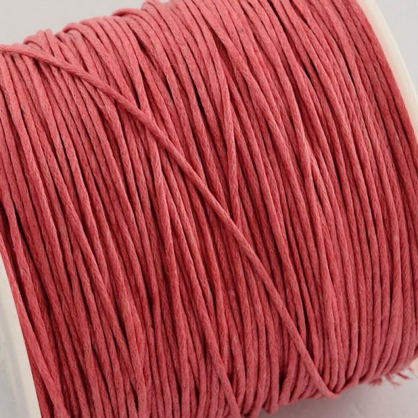 5 Meter gewachste Baumwollschnur pink Stärke 1 mm